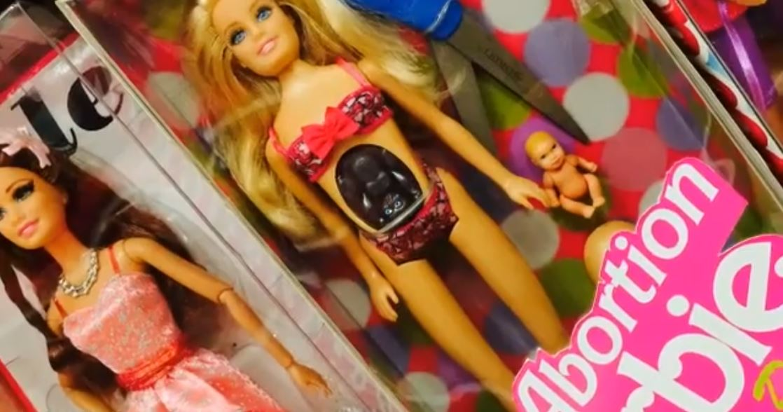 abortion barbie poster attack - 740×370